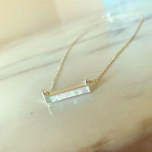 Jewelry - Beautiful opal bar necklace